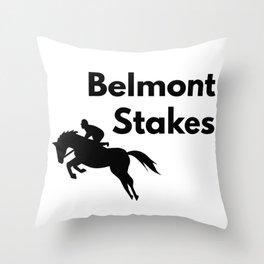 Belmont Stakes Gift Throw Pillow
