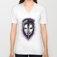 swan queen V-neck T-shirts featuring Swan Queen by ibeenthere