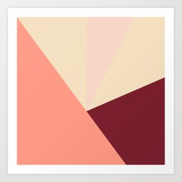 Tetrachromatic in red Art Print