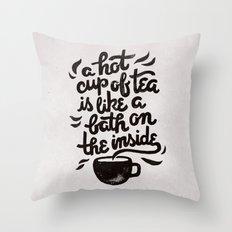 Hot Tea Throw Pillow