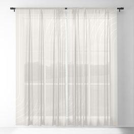 Minimal Line Curvature - Subtle White Sheer Curtain