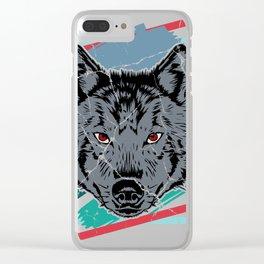 Wolf dog dingo gift sheep wild dog Clear iPhone Case