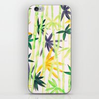 bamboo iPhone & iPod Skins featuring Bamboo by Federico Faggion