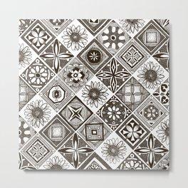 azulejos chocolate Metal Print