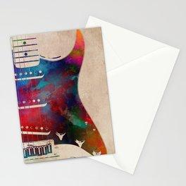 guitar art 2 Stationery Cards