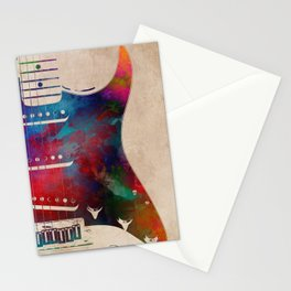 guitar art 2 Stationery Cards