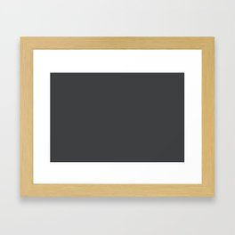 Dunn & Edwards 2019 Curated Colors Dark Engine (Dark Gray / Charcoal Gray) DE6350 Solid Color Framed Art Print