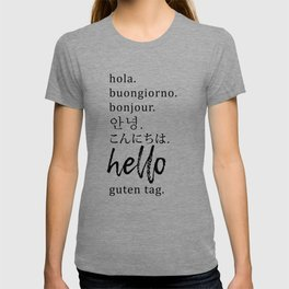 Hello in Many Languages T-shirt