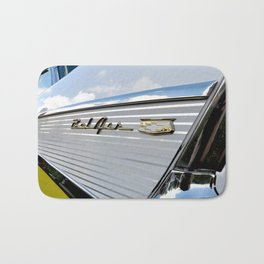 Yellow Classic American Muscle Car Belair  Bath Mat