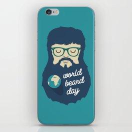 World Beard Day iPhone Skin