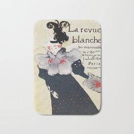 La Revue Blanche Toulouse Lautrec Bath Mat