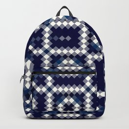BALANCE classic blue and white intricate design Backpack