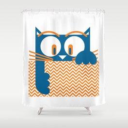 Gato II by Christian Montenegro Shower Curtain
