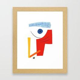 Abstract face. Framed Art Print