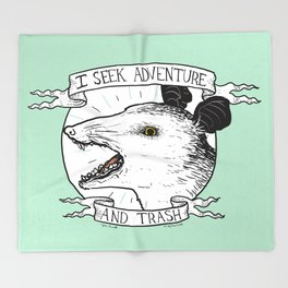 ADVENTURE AND TRASH Throw Blanket