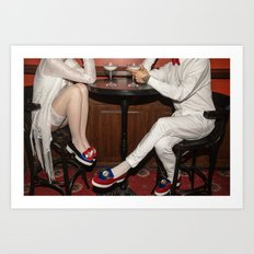 I'd like to take you on a date. Sixteen past eight Art Print