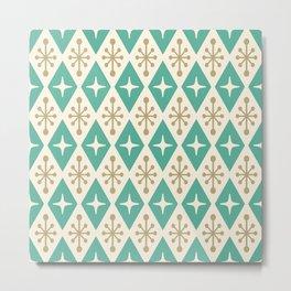 Mid Century Modern Atomic Triangle Pattern 105 Metal Print