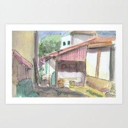 Colonial House Art Print
