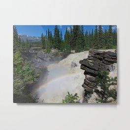 Athabaska Falls in The Rockies Metal Print