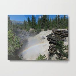 Athabaska Falls in The Rockies Metal Print
