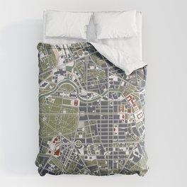 Berlin city map engraving Comforters