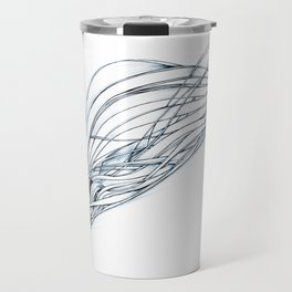 'Snowboarder in Ribbons of Snow II' Travel Mug