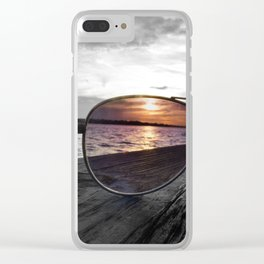 Sunset Perspective Clear iPhone Case
