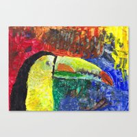 toucan Canvas Prints featuring Toucan by Catherine Johnson