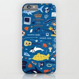 Life Aquatic Plot Pattern iPhone Case