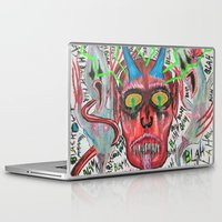 whiskey Laptop & iPad Skins featuring Whiskey Demons by Pluto00Art / Robin Brennan