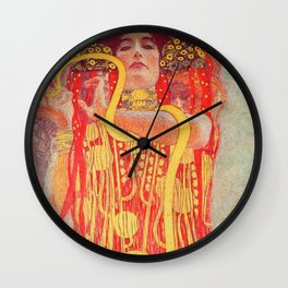 Gustav Klimt - Greek Goddess of Medicine Hygeia Wall Clock