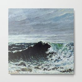 """Gustave Courbet """"The Wave 1871 Scotland"""" Metal Print"""