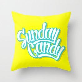 Sunday Candy Throw Pillow