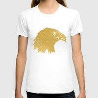 gold foil T-shirts featuring Gold Foil Eagle by Mod Pop Deco