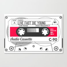 Audio Cassette SIDE A ▲LIVEFASTDIEYOUNG▲ RED Canvas Print