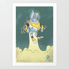Astro Zodiac Force 04: Rabbit Art Print