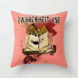 Fahrenheit 451 Throw Pillow