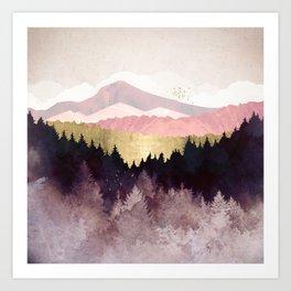 Plum Forest Art Print