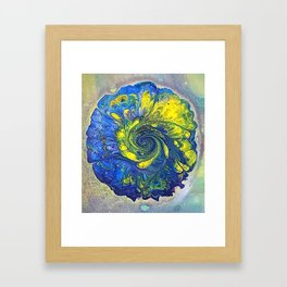 Hot Biscuit in Blue & Yellow Framed Art Print