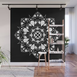 Mandala Black and White Magic Wall Mural