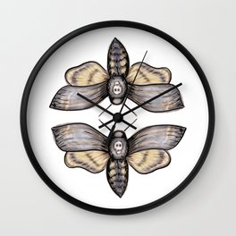 Death's Head Hawkmoth Pattern - Katrina Niswander Wall Clock