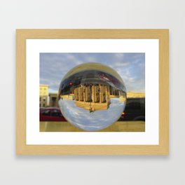 BERLIN Brandenburg Gate sunset, Germany / Glass Ball Photography Framed Art Print