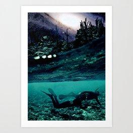 Diving in Deep Art Print