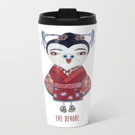 Geisha Owl Metal Travel Mug