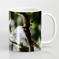 cherry blossoms Mugs featuring Cherry blossoms by Monica Georg-Buller