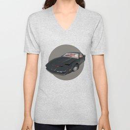 80´s tv and films cars (knight rider) Unisex V-Neck