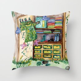 Magic Closet Throw Pillow