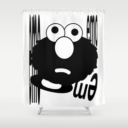 Emo Elmo Shower Curtain