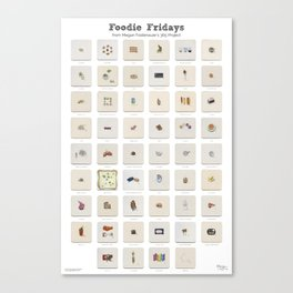 Foodie Fridays: 52 Weeks of Food & Drink Watercolor Paintings Canvas Print