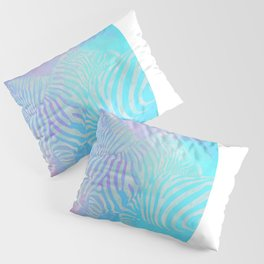 Geometric Zebra Love Pillow Sham